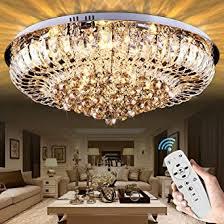 Eine gute wohnzimmer beleuchtung muss bestimmten kriterien entsprechen. Edge To Deckenleuchten Europaische Fernbedienung Kristall Deckenlampe Luxus Runde Kristall Lampe Wohnzimmer Lampe Schlafzimmer Restaurant Led Kristall Deckenleuchte Fernbedienung Lampe 65 26cm Amazon De Beleuchtung