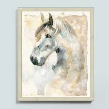 Ballard Designs Horse Art Relying On A Combination Of Ink And Watercolor The Artist