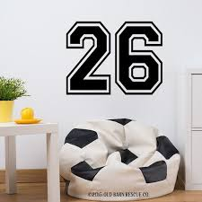 two large number stickers sport numbers