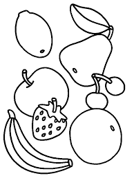 Fruit Coloring Pages Jokingartcom
