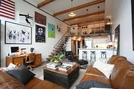 Oliver Simon Design Loft Project industrial-living-room