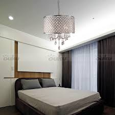 hot drum shade crystal ceiling chandelier pendant light fixture lighting lamp