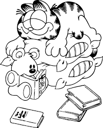 Garfield Coloring Pages Coloring Garfield Pictures