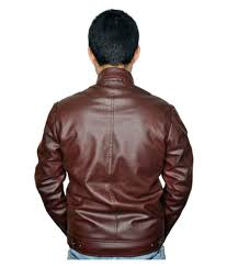 zara leather brown biker jacket zara leather brown biker jacket at best s in india on snapdeal