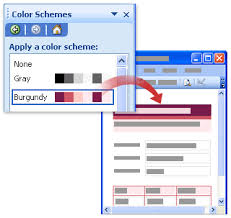 office color scheme. Burgundy Color Scheme Applied To Form Template Office