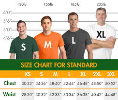 Us Standard Shirt Size Chart Standard Shirt Sizing The Ann Arbor T Shirt Company