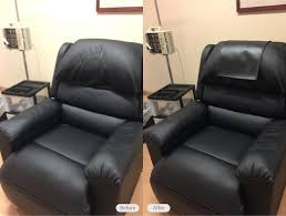 vinyl medical chair headrest cover added to make the chair look great again for patients in brandon florida