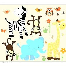 jungle wall decals for nursery animal wild animals safari happy colorful canada nurser