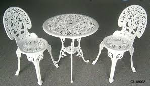 fancy white metal outdoor furniture patio bistro table and chairs hampton bay marysville 3piece patio