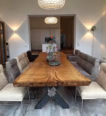 Eichentisch Baumtisch Esstisch Unverleimt Aus Einem Stück Holzwerk