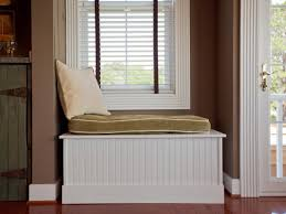 Window seat with storage Seat Cushion Materials Diy Network How To Build Window Bench Seat Howtos Diy
