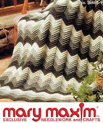 Crochet Ripple Afghan Pattern Amazing Mary Maxim Crocheted Ripple Afghan Pattern