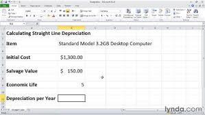 Straight Line Method For Depreciation Sln Calculating Depreciation Using The Straight Line Method