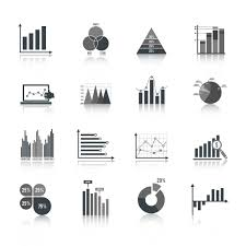 Business Chart Icons Set Download Free Vectors Clipart