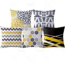 Image Geometric Detail Feedback Questions About Yellow Decorative Pillows Geometric Pillows Case Gray Geometric Cushion Cover Home Decor Nordic Style Velvet Cushions For G633 Detail Feedback Questions About Yellow Decorative Pillows Geometric