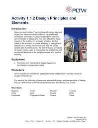Activity 1 1 2 Design Principles And Elements Answer Key Activity 1 1 2 Design Principles And Elements