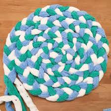 photos of recycled towel bathmat braided towel rug