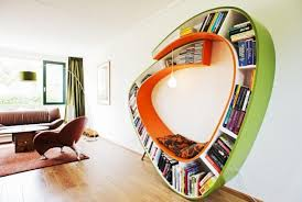 creative book storage.  Creative Use Book Shelve As A Wall Decoration Intended Creative Storage