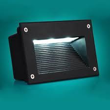 5pcs ip67 waterproof outdoor wall corner 220v 110v garden light embedded corridor path lights stair steps