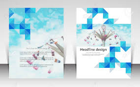 free pamphlet design online vector illustration for website page layout template design