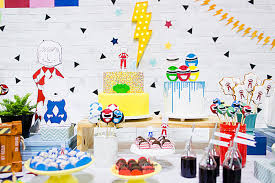 power rangers dessert table from a power rangers birthday party on kara s party ideas karaspartyideas