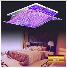 modern crystal chandelier led color change with remote control organ style rgb re ceiling lamp art