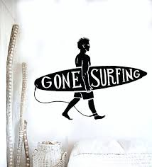 surf wall mural new sport series wall decal surfing guy surf beach surfer wall sticker vinyl surf wall