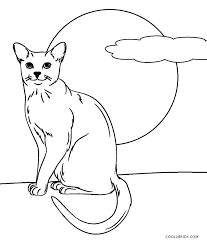 Printable Cat Coloring Pages Printable Cat Coloring Pages Cat