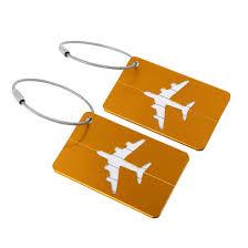 rakuten home unique bargains travel luge s suitcase name address card labels holder gold tone 2pcs 0