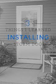 Backyards : Ideas About Storm Door Installation Screen ...