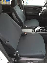 profile of 2016 honda pilot front low back buckets with adjule headrests with black neosupreme seat covers