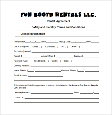 sample rental agreement letter sample booth rental agreement