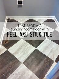 transform a laundry room floor with l and stick tiles diy beautify