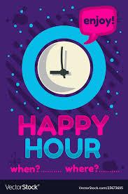 Happy Hour Flyer Happy Hour Poster Flyer Design Pink Sky Blue