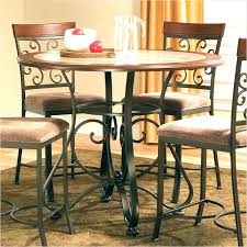 dining table island pub height kitchen table round counter height dining table silver from counter