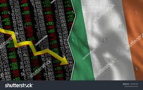 Ireland Flag Finance Stock Market Stock Stock Illustration