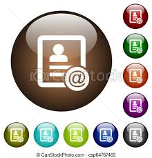 Email Buttons Contact Email Color Glass Buttons