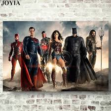 pop art justice league saga canvas