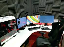 gaming l shaped desk gaming desk white gaming computer desk setup battle station corner l shaped