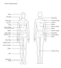 Waist To Knee Measurement Chart Sizing Chart For Women Ivonnegarita