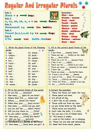 15 best Plural Gor images on Pinterest | Printable worksheets ...