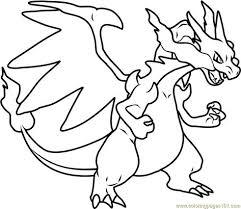 Mega Charizard X Pokemon Printable Coloring Page For Kids And Adults
