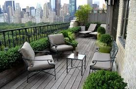 balcony furniture set garden furniture wooden planks flooring city outlook balcony outdoor furniture