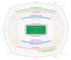 Ny Giants Seating Chart With Rows New York Giants Suite Rentals Metlife Stadium