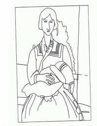 Small Picture Masterpiece Coloring Page Free printable Amadeo Modigliani