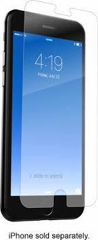 iphone plus. zagg - invisibleshield hd glass+ screen protector for apple® iphone® 6 plus, 6s iphone plus