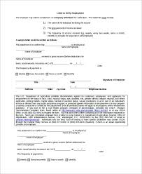 Sample Verification Of Employment Letter 8 Examples In Word Pdf