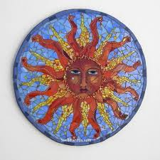 stained glass sun mosaic