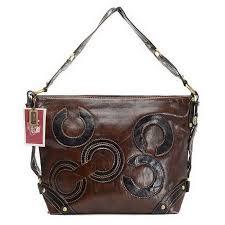 Coach Julia Big C Medium Coffee Shoulder Bags EGR