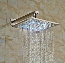 brushed nickel rain shower heads home complete shower systems brushed nickel rain shower head system
